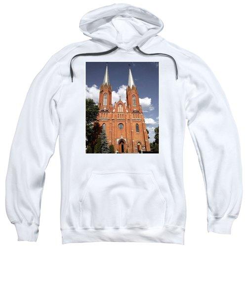 Very Old Church In Odrzywol, Poland Sweatshirt by Arletta Cwalina