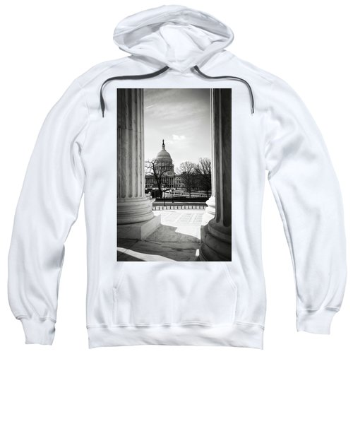 View Of Capitol Hill Through The Supreme Court Sweatshirt