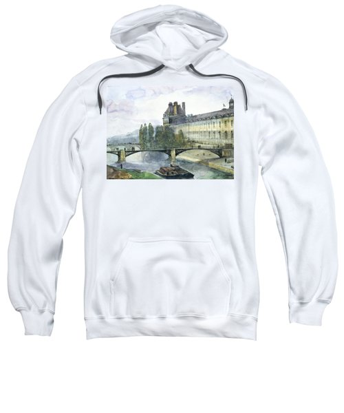View Of The Pavillon De Flore Of The Louvre Sweatshirt