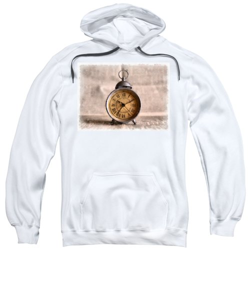 Vintage Alarm Clock Watercolor Sweatshirt