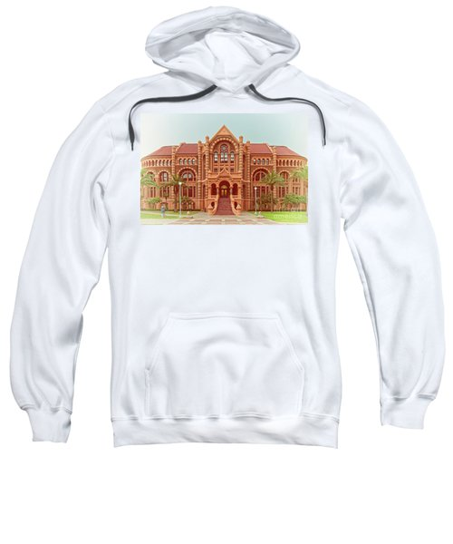 Vintage Architectural Photograph Of Ashbel Smith Old Red Building At Utmb - Downtown Galveston Texas Sweatshirt