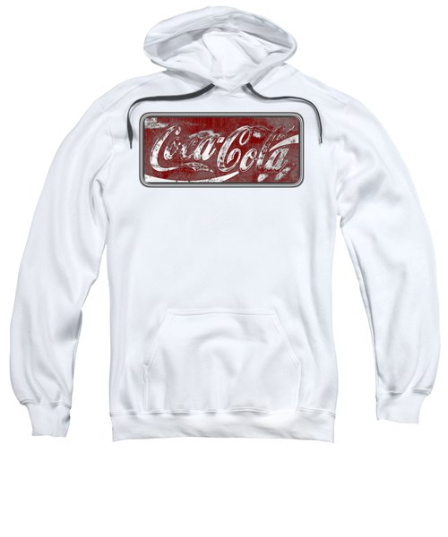 Vintage Coca Cola Red And White Sign With Transparent Background Sweatshirt