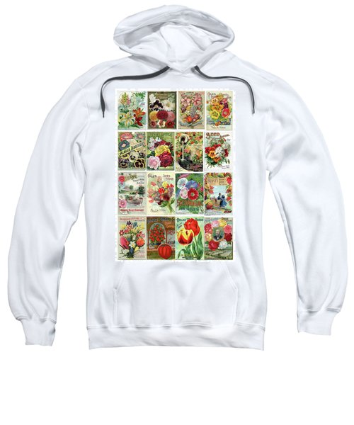 Vintage Flower Seed Packets 1 Sweatshirt