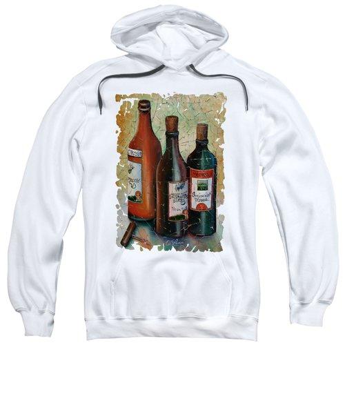 Vintage Georgian Wine Fresco Sweatshirt by Lena  Owens OLena Art