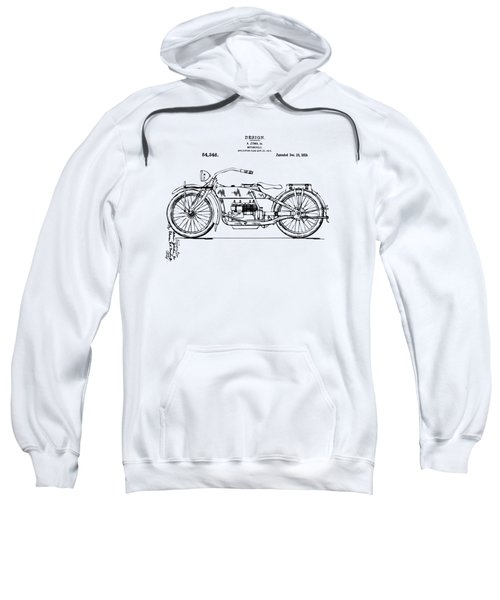 Vintage Harley-davidson Motorcycle 1919 Patent Artwork Sweatshirt