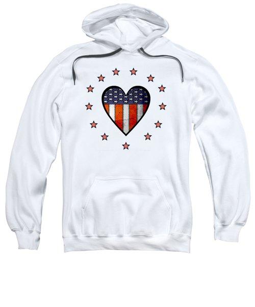 Vintage Patriotic Heart Sweatshirt
