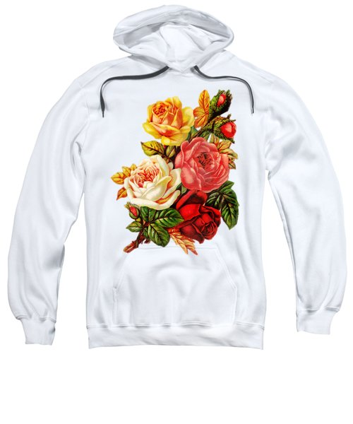 Sweatshirt featuring the digital art Vintage Rose I by Kim Kent