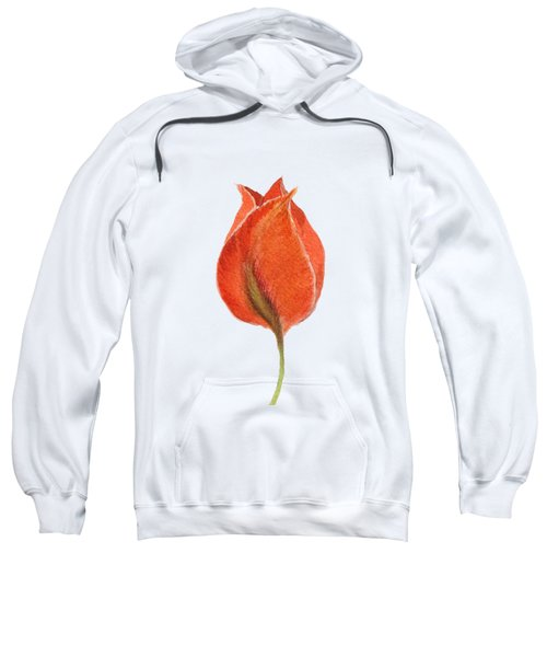 Sweatshirt featuring the painting Vintage Tulip Watercolor Phone Case by Edward Fielding