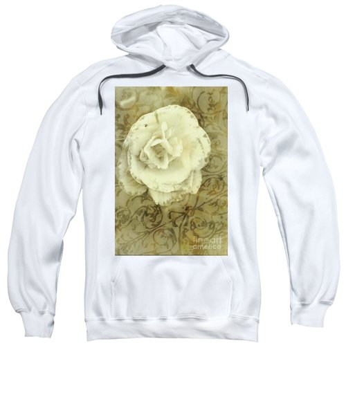 Vintage White Flower Art Sweatshirt