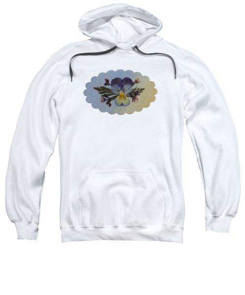 Viola Pressed Flower Arrangement Sweatshirt