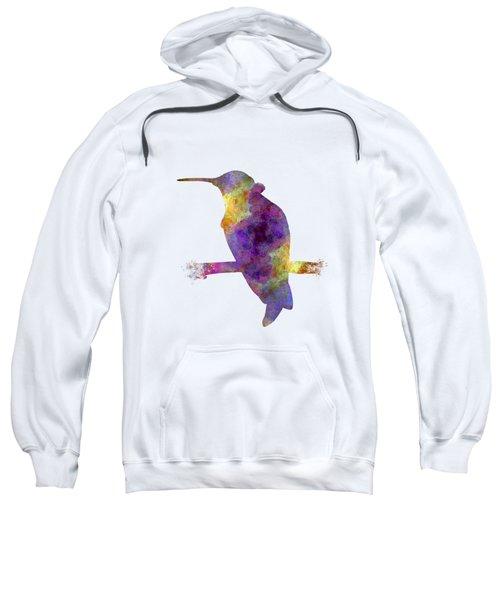 Hummingbird 01 In Watercolor Sweatshirt