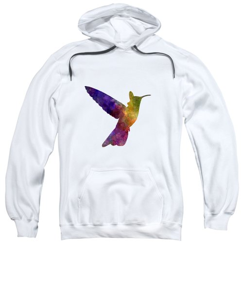 Hummingbird 02 In Watercolor Sweatshirt