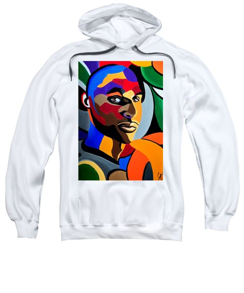 Visionaire, Abstract Male Face Portrait Painting - Illusion Abstract Artwork - Chromatic Sweatshirt