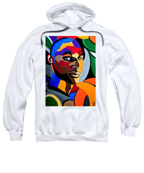 Visionaire Male Abstract Portrait Painting Chromatic Abstract Artwork Sweatshirt