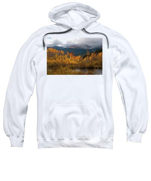 Vivid Autumn Aspen And Mountain Landscape Sweatshirt
