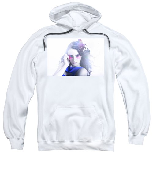Vogue Style Woman With Beautiful Bright Makeup Sweatshirt