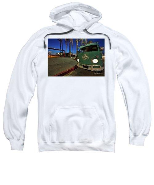 Volkswagen Bus At The Imperial Beach Pier Sweatshirt