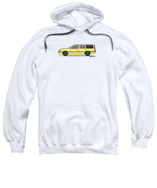 Volvo 850r 855r T5-r Swedish Turbo Wagon Cream Yellow Sweatshirt