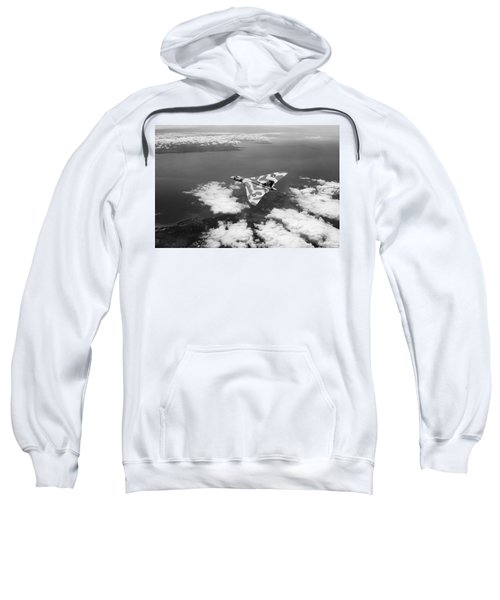 Vulcan Over South Wales Black And White Sweatshirt