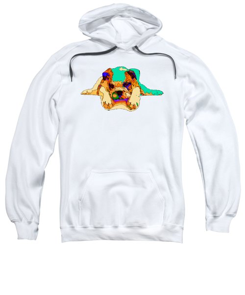 Waiting For You. Dog Series Sweatshirt