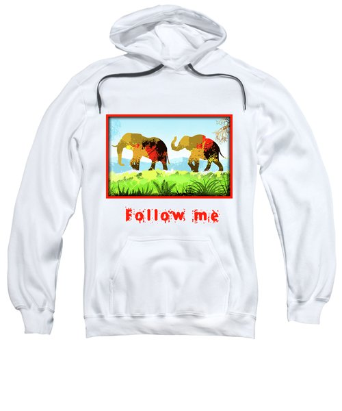 Walk With Me Sweatshirt by Anthony Mwangi