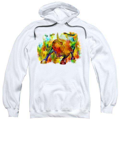 Wall Street Bull Sweatshirt by Jack Zulli
