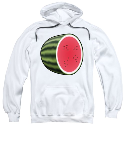 Water Melon Outlined Sweatshirt by Miroslav Nemecek