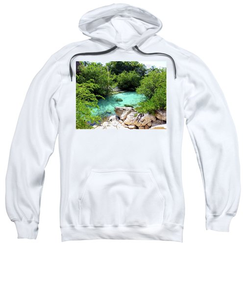 Sweatshirt featuring the photograph Water Shallows by Francesca Mackenney