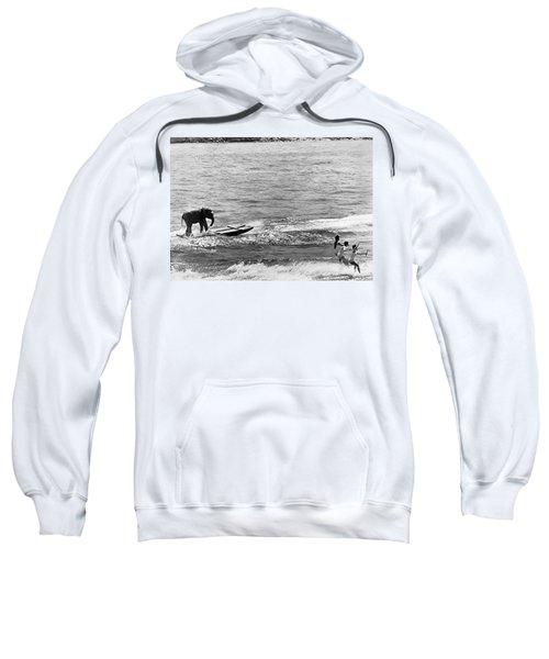 Water Skiing Elephant Sweatshirt