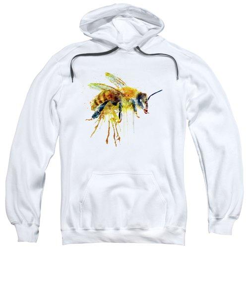 Watercolor Bee Sweatshirt by Marian Voicu