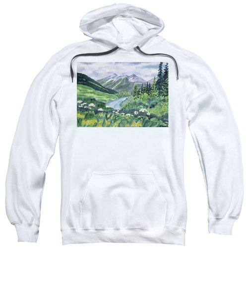 Watercolor - Colorado Summer Landscape Sweatshirt