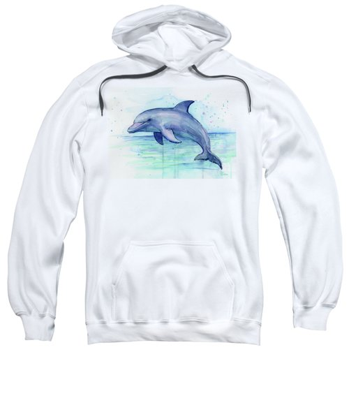 Watercolor Dolphin Painting - Facing Right Sweatshirt