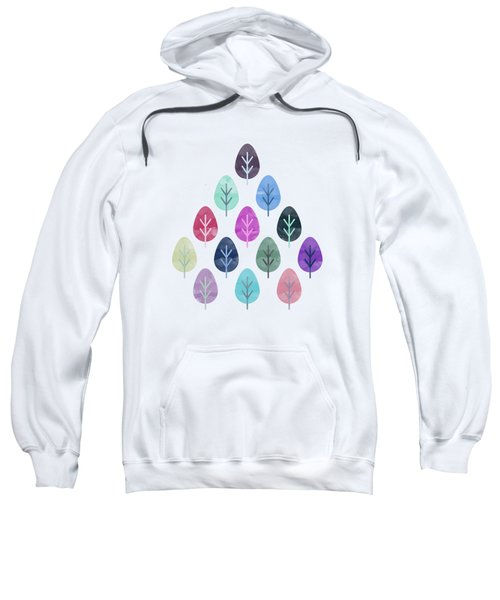 Watercolor Forest Pattern  Sweatshirt