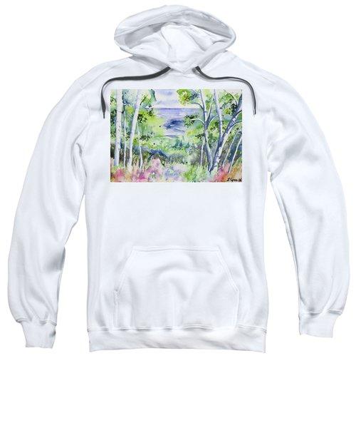 Watercolor - Lake Superior Impression Sweatshirt