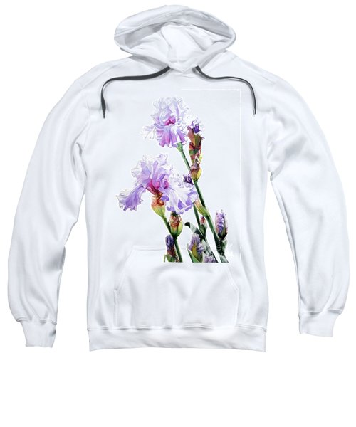 Watercolor Of A Tall Bearded Iris I Call Lilac Iris Wendi Sweatshirt
