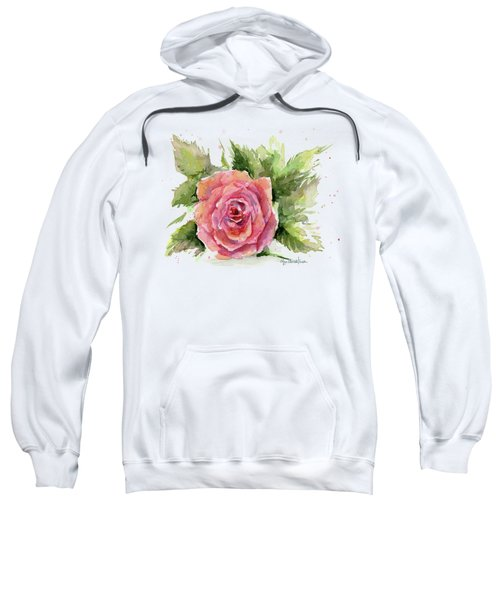 Watercolor Rose Sweatshirt