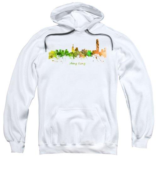 Watercolor Skyline Of Hong Kong Sweatshirt