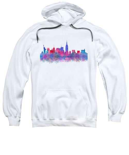 Watercolour Splashes New York City Skylines Sweatshirt