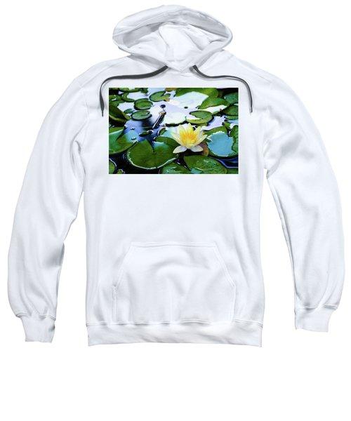 Waterlilly On Blue Pond Sweatshirt