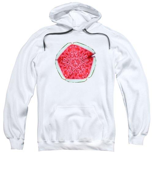 Watermelon Star Wheel Sweatshirt by Shana Rowe Jackson