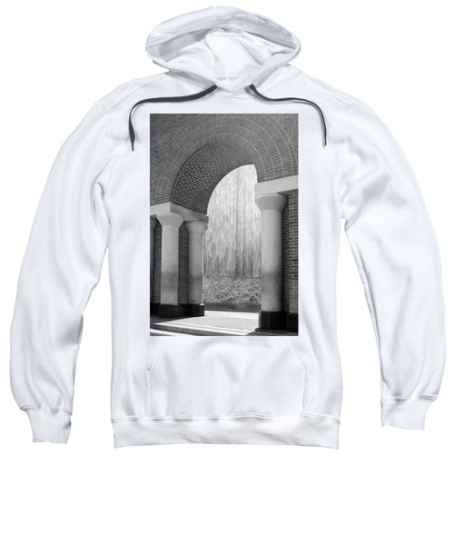 Waterwall And Arch 3 In Black And White Sweatshirt