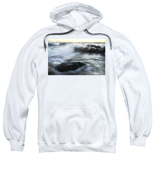 Wave Crashes Rocks 7833 Sweatshirt