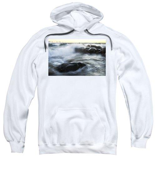 Wave Crashes Rocks 7833 Sweatshirt