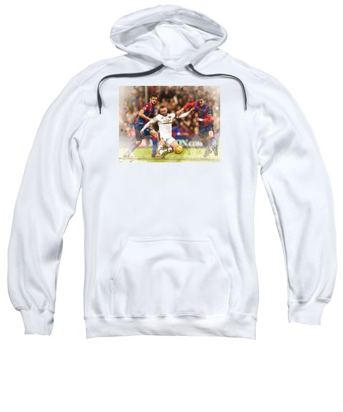 Wayne Rooney Shoots At Goal Sweatshirt by Don Kuing