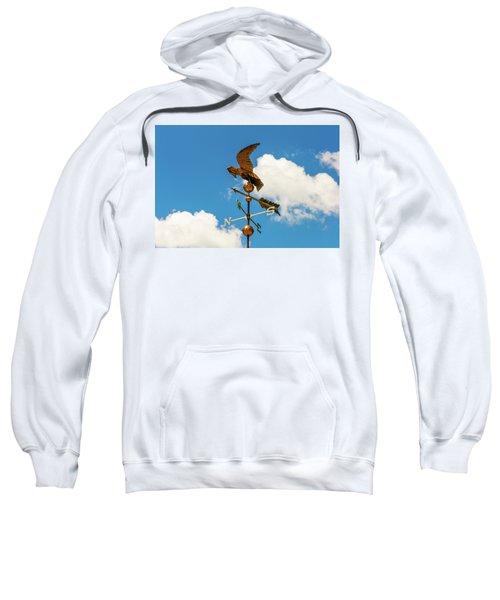 Weather Vane On Blue Sky Sweatshirt
