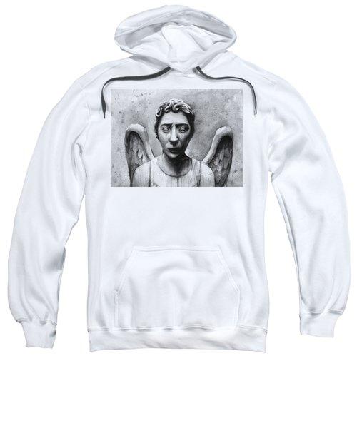 Weeping Angel Don't Blink Doctor Who Fan Art Sweatshirt