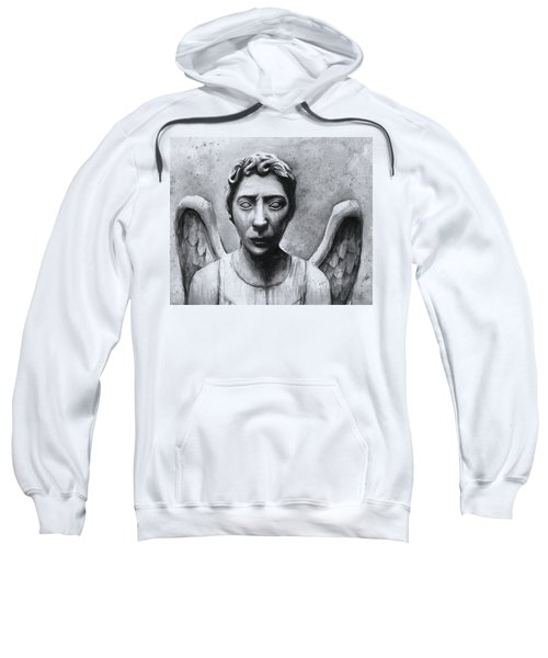 Weeping Angel Don't Blink Doctor Who Fan Art Sweatshirt