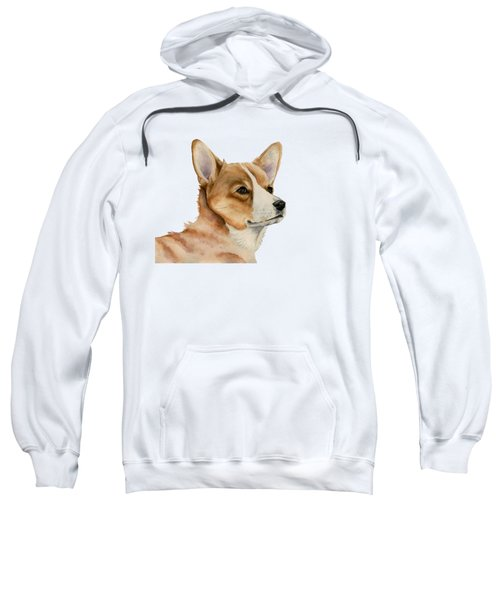 Welsh Corgi Dog Painting Sweatshirt