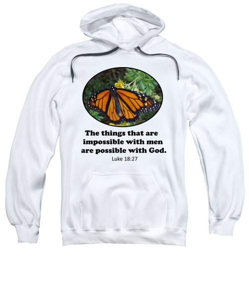 When The Rain Clears Monarch Butterfly Sweatshirt