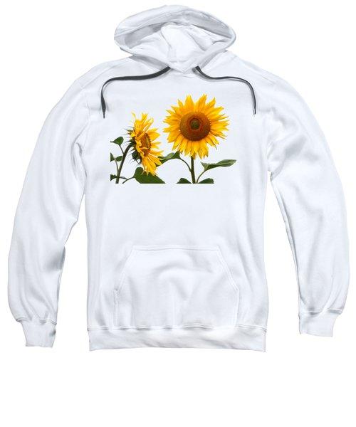 Whispering Secrets Sunflowers On White Sweatshirt